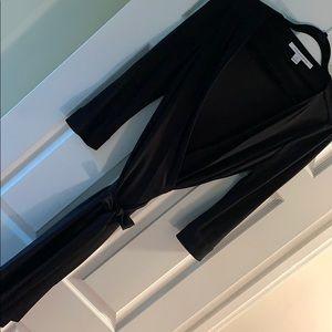 Like new! DVF black long sleeve dress size 12